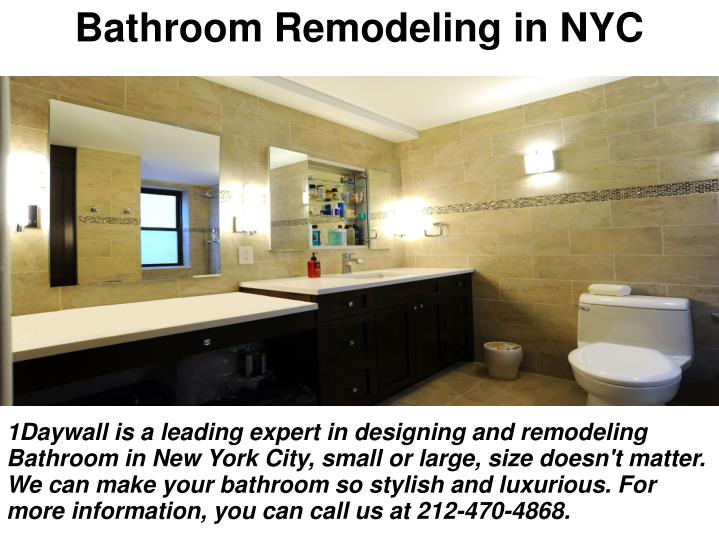 Ppt how to build temporary walls powerpoint presentation for Nyc bathroom remodeling
