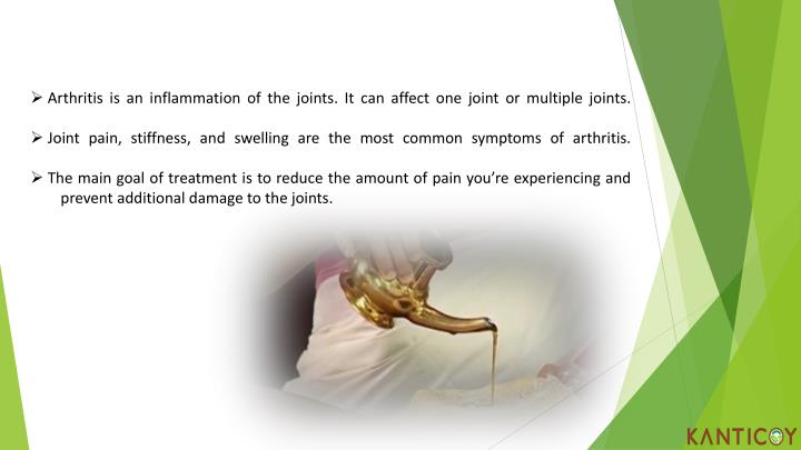 Arthritis is an inflammation of the joints. It can affect one joint or multiple joints.