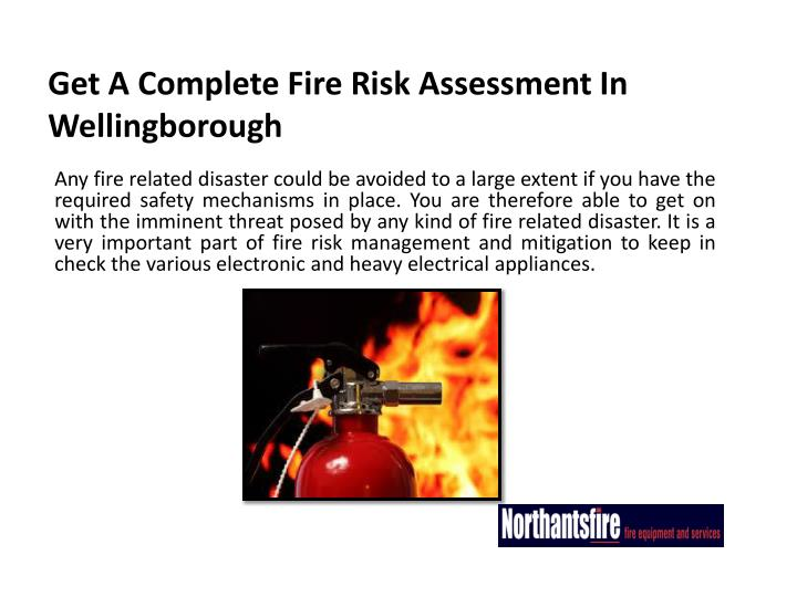 Get a complete fire risk assessment in wellingborough2
