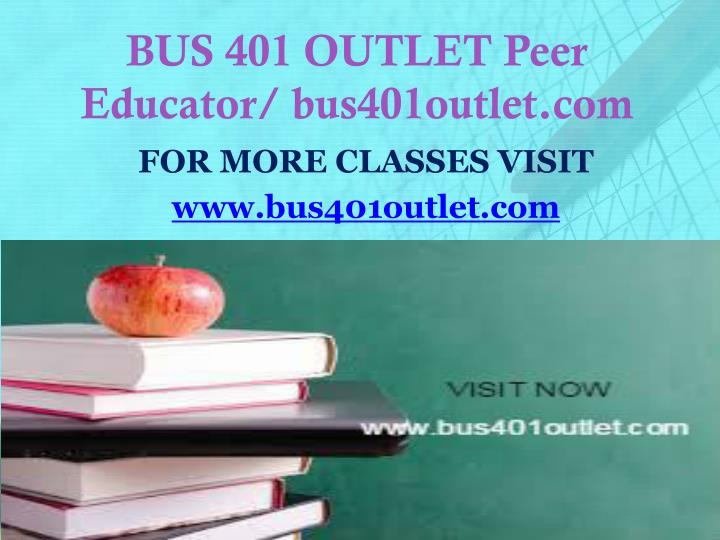 Bus 401 outlet peer educator bus401outlet com