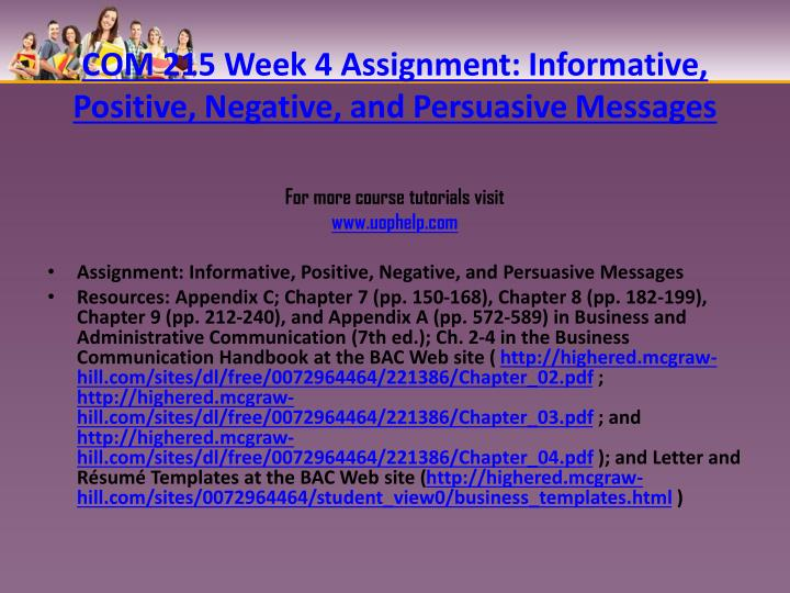 informative positive negative and persuasive messages Check out our top free essays on informative positive negative and persuasive messages to help you write your own essay.