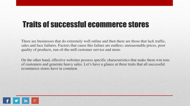 Traits of successful ecommerce stores