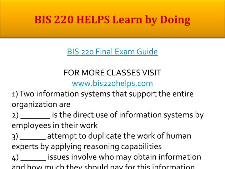 Bis 220 helps learn by doing1