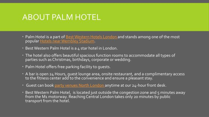 About palm hotel