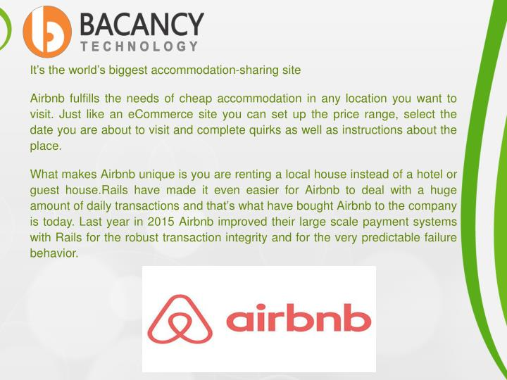 It's the world's biggest accommodation-sharing site