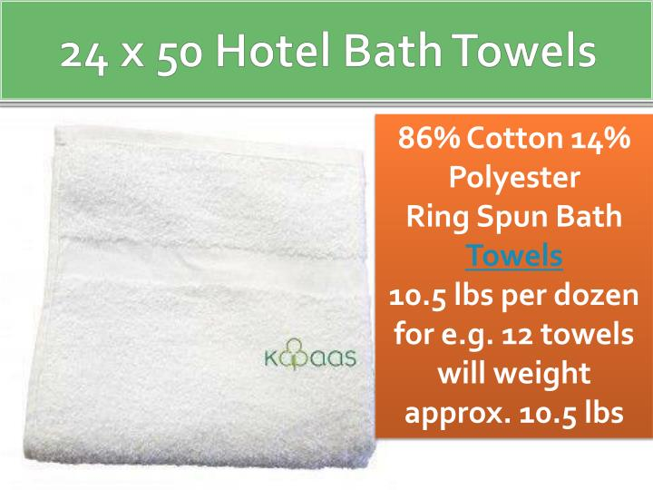 24 x 50 hotel bath towels