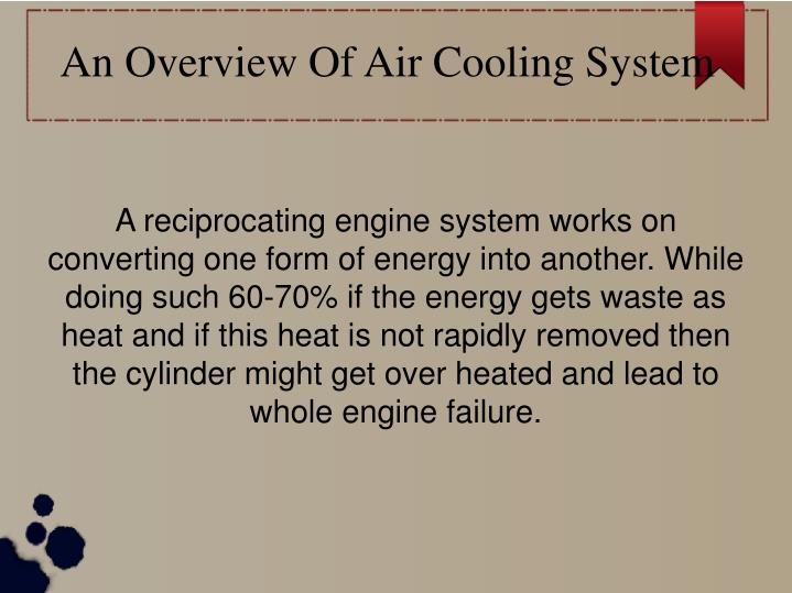 An Overview Of Air Cooling System