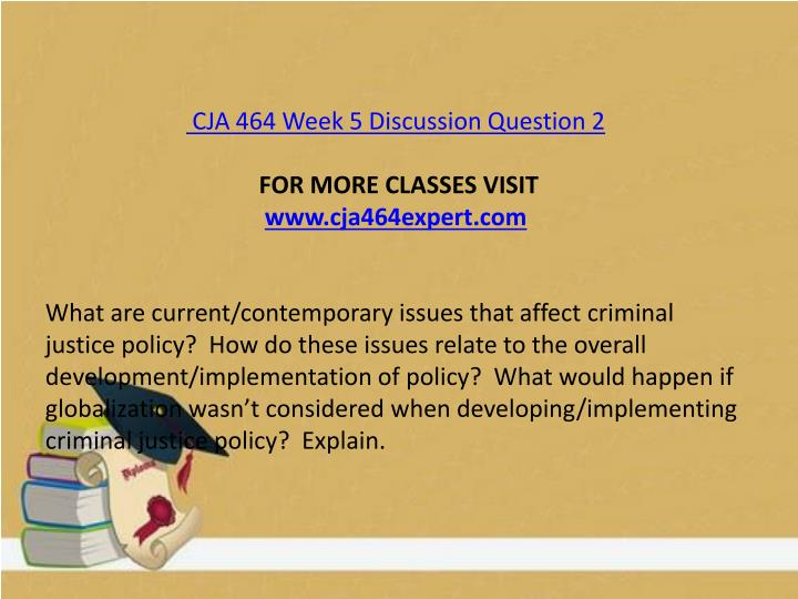 CJA 464 Week 5 Discussion Question 2