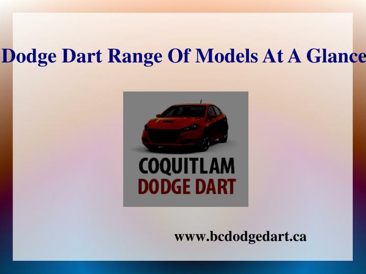 Dodge dart range of models at a glance