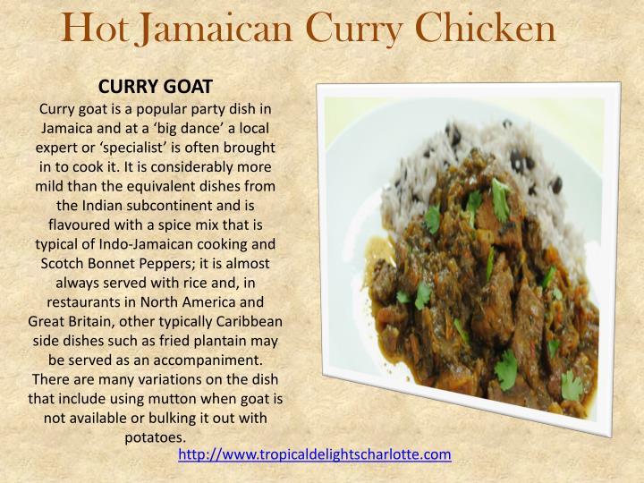 Hot Jamaican Curry Chicken