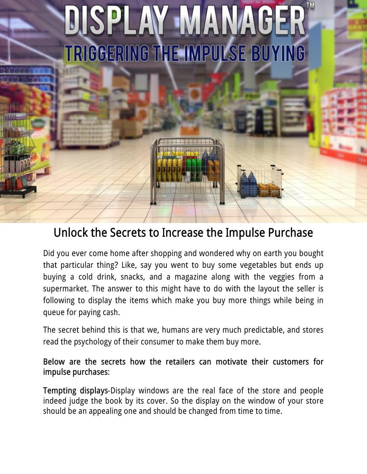 Unlock the Secrets to Increase the Impulse Purchase