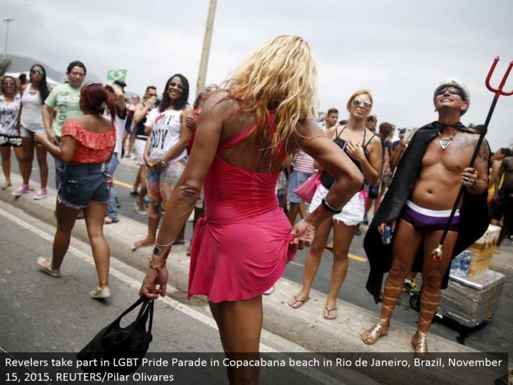 Revelers join in LGBT Pride Parade in Copacabana shoreline in Rio de Janeiro, Brazil, November 15, 2015. REUTERS/Pilar Olivares