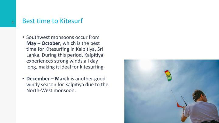 Best time to Kitesurf