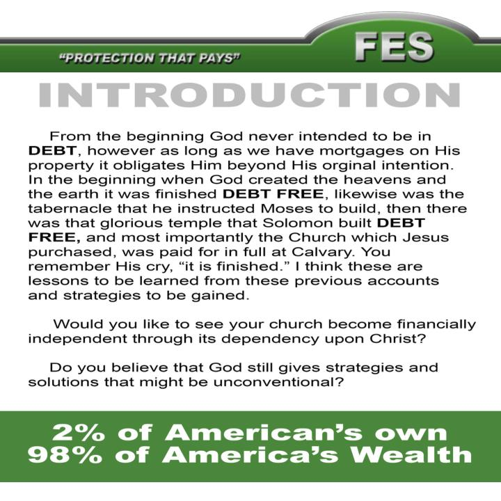 Church fundraising idea to become debt free and increase tithing