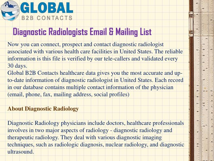 Diagnostic radiologists email mailing list