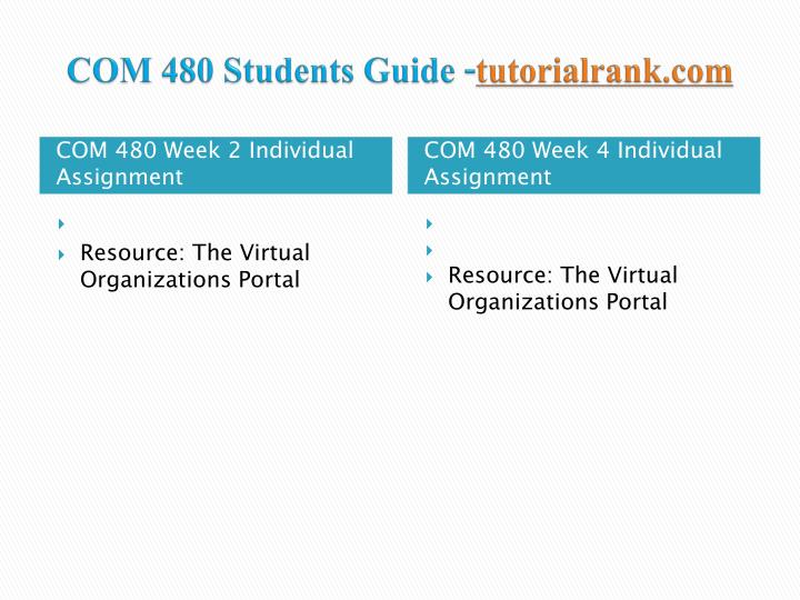Com 480 students guide tutorialrank com2