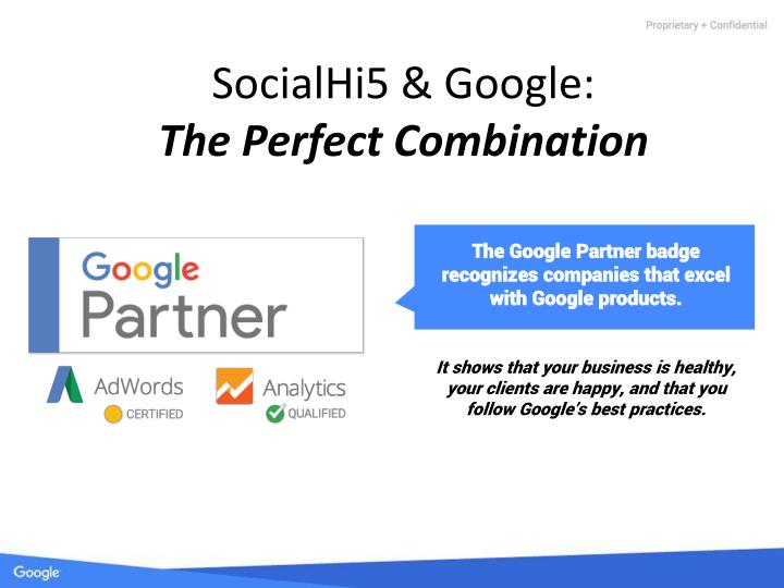 Socialhi5 google the perfect combination