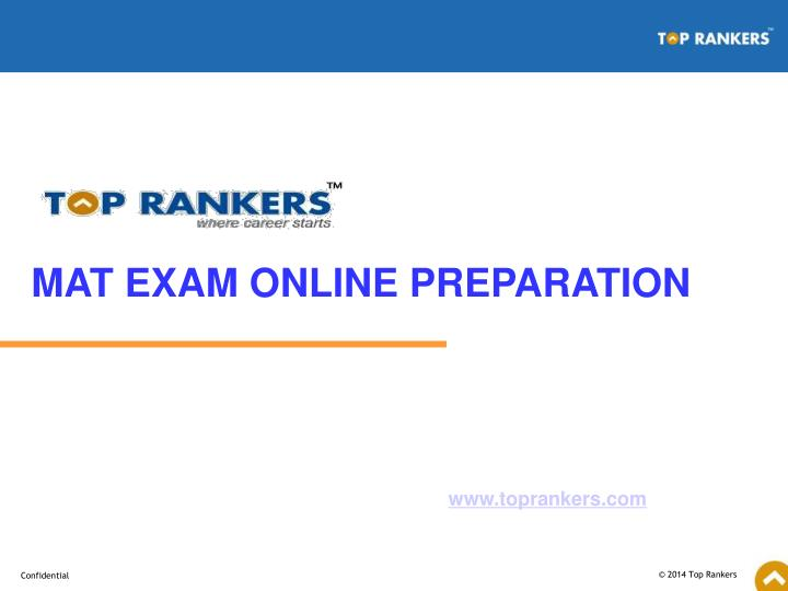 MAT EXAM ONLINE PREPARATION