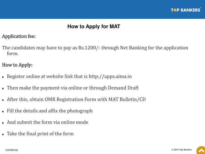 How to Apply for MAT