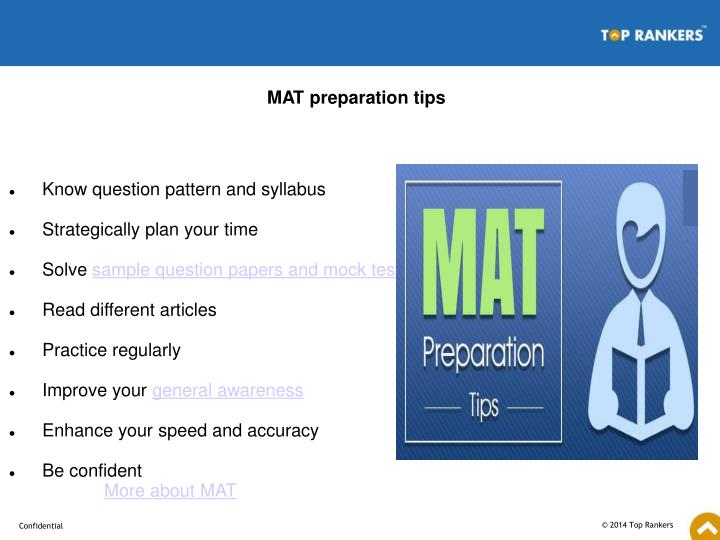 MAT preparation tips