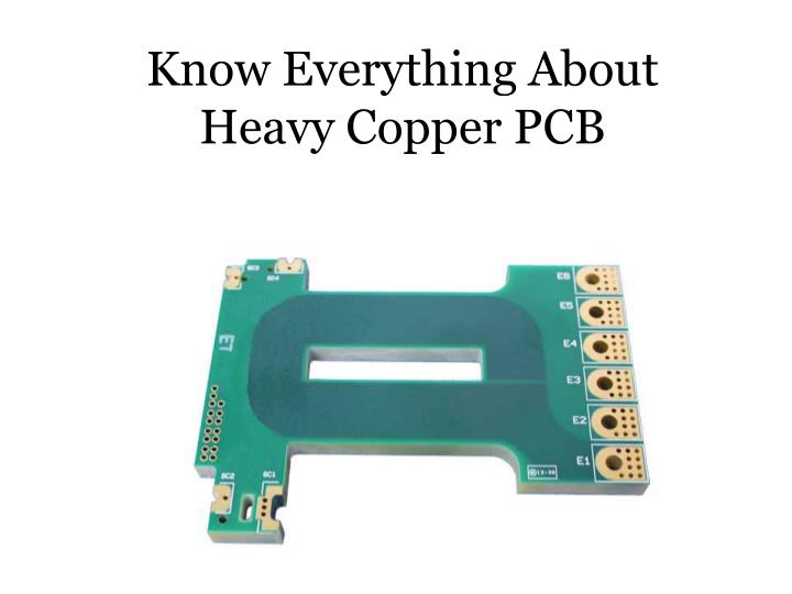 Know Everything About Heavy Copper