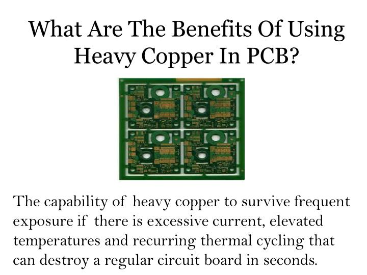 What Are The Benefits Of Using Heavy Copper In PCB?