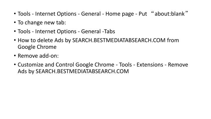 "Tools - Internet Options - General - Home page - Put ""about:blank"""