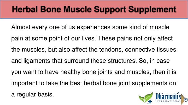 Herbal Bone Muscle Support Supplement