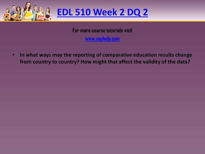 EDL 510 Week 2 DQ