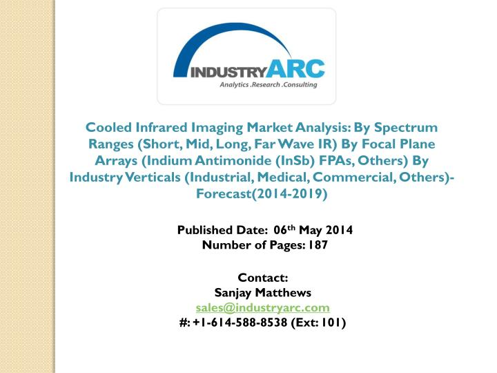 Cooled Infrared Imaging Market Analysis: By Spectrum Ranges (Short, Mid, Long, Far Wave IR) By Focal...