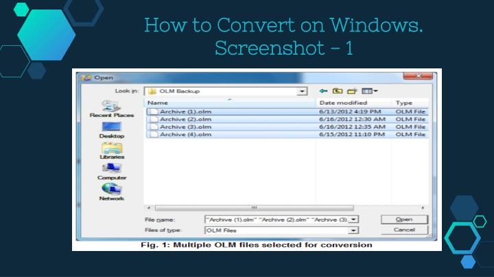 How to Convert on Windows.