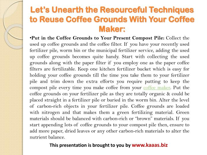 Can You Reuse Coffee Grounds In French Press
