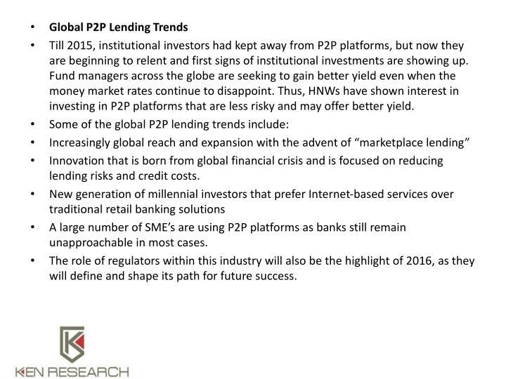 Global P2P Lending Trends