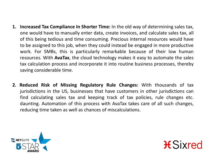 Increased Tax Compliance In Shorter Time: