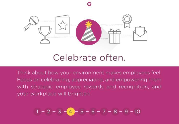 Celebrate often.
