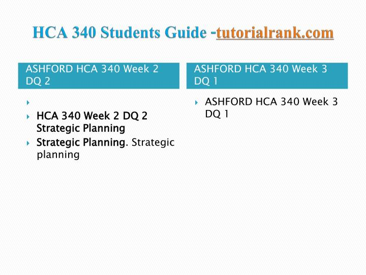hca 340 week 3 outline for This archive file of hca 340 week 3 discussion question 2 managing financial budgets shows the solutions to the following problems:  outline the processes, or.