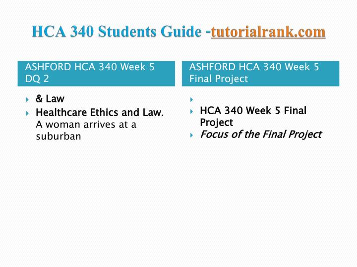 hca 230 final project powerpoint presentation Software product positioning harris hunt uci institute for  hca 230  week 9 final presentation(power point presentation) 2015.