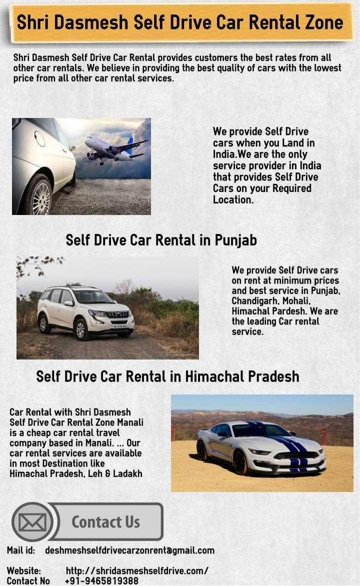 Self Drive Car Rental Service Chandigarh