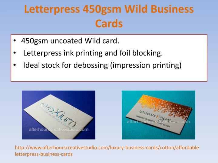 PPT Affordable Letterpress Cotton Business Cards order