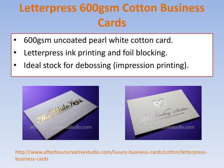 Custom Card Template order business cards online : PPT - Affordable Letterpress Cotton Business Cards order ...