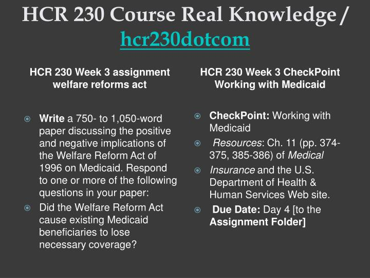 hcr 230 week 4 describing tricare Section 4: community services this section organizes more than 700 community -based resources alphabetized by category section 2: senior housing for example, set a goal to find time to be physically active on most days of the week or for getting a good night's sleep it's also crucial to maintain a.