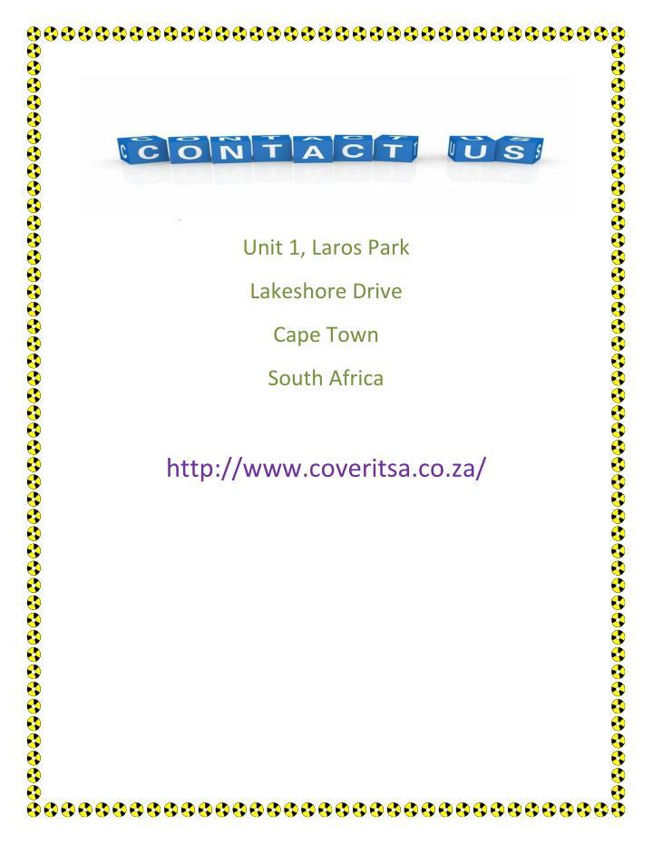 Unit 1, Laros Park