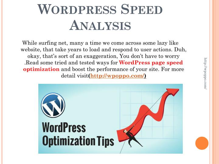 Wordpress speed analysis