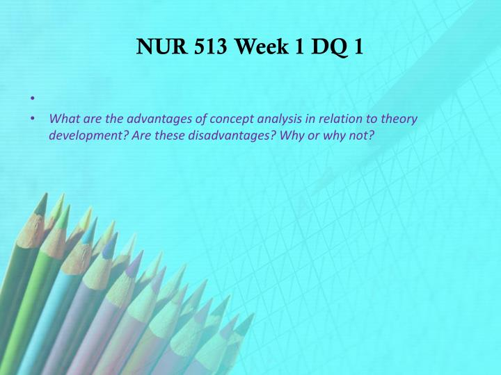 NUR 513 Week 1 DQ 1