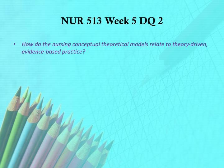 NUR 513 Week 5 DQ 2