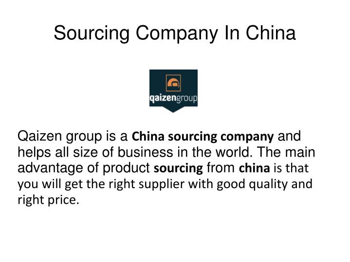 Sourcing company in china