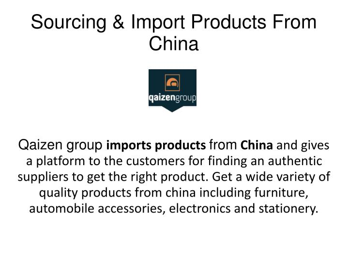 Sourcing import products from china