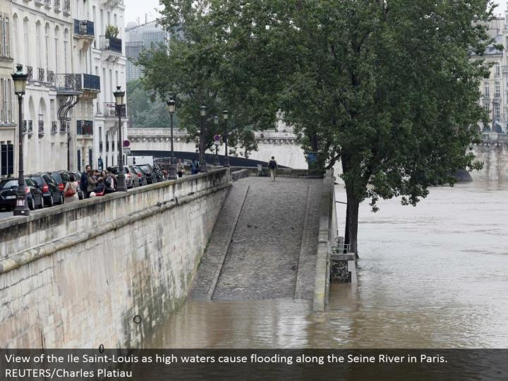 View of the Ile Saint-Louis as high waters cause flooding along the Seine River in Paris. REUTERS/Charles Platiau