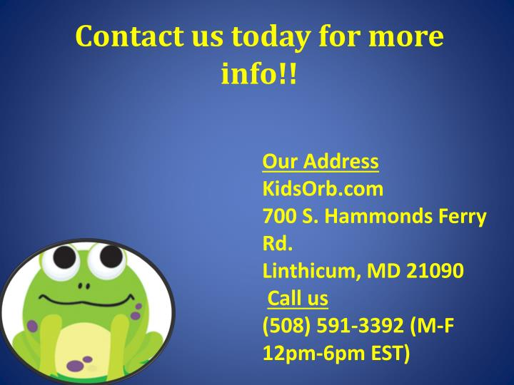 Contact us today for more info!!