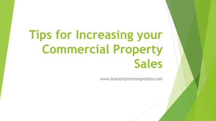 Tips for increasing your commercial property sales